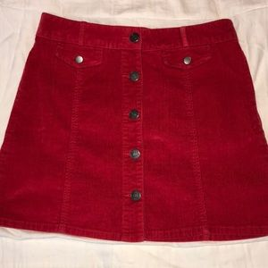 Red BDG skirt (urban outfitters)